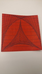 Curve-stitch Post-it drawing